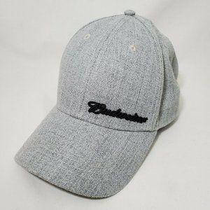 Genuine Budweiser Baseball Hat Cap Gray Black